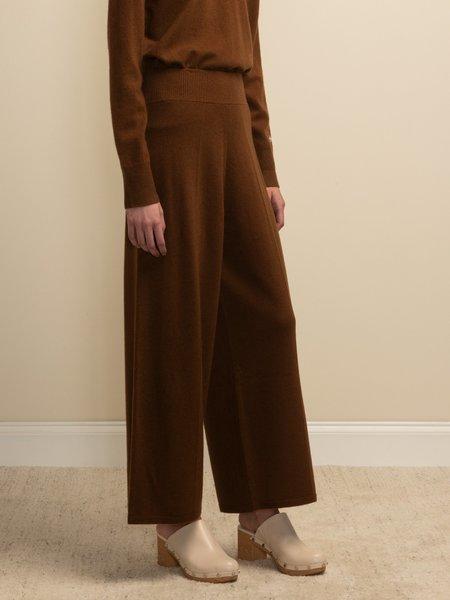 PURECASHMERE NYC Loose Fit Pants - Deep Camel