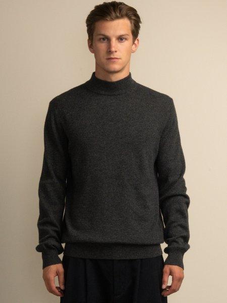 PURECASHMERE NYC Men Mockneck Sweater - Graphite