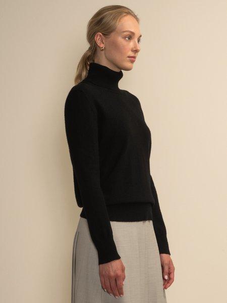 PURECASHMERE NYC Turtleneck Sweater - Black