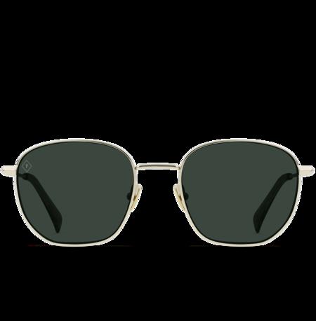 Raen Alameda Sunglasses - Shiny Light Gold/Haze/Green Polarized