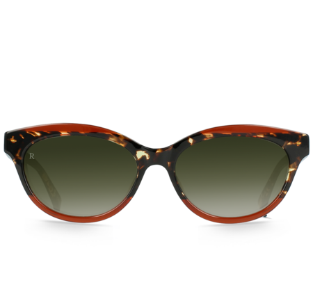 Raen Blondie Sunglasses - Cherry Cola/Bottle Green Gradient Mirror