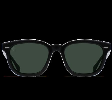 Raen Myles Sunglasses - Crystal Black/Green Polarized