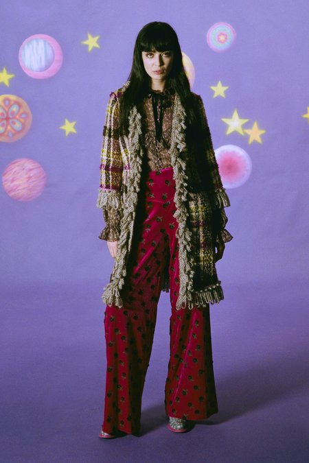 Anna Sui Wonderwall Velvet Pants - Forest Green