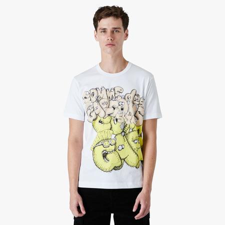 COMME des GARÇONS SHIRT x KAWS Graphic T-shirt - white