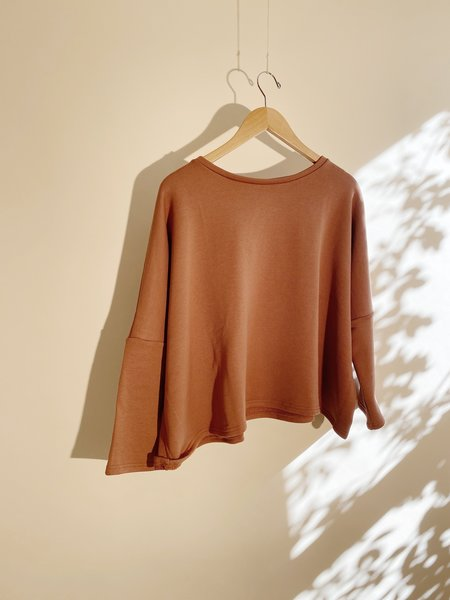 ICHI ANTIQUITES Heavy French Terry Pullover