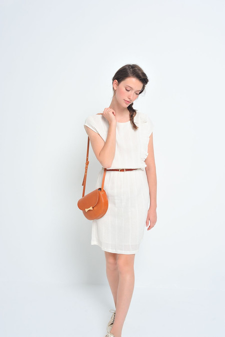 Des Petits Hauts | Santine Cotton Dress with Ruffle