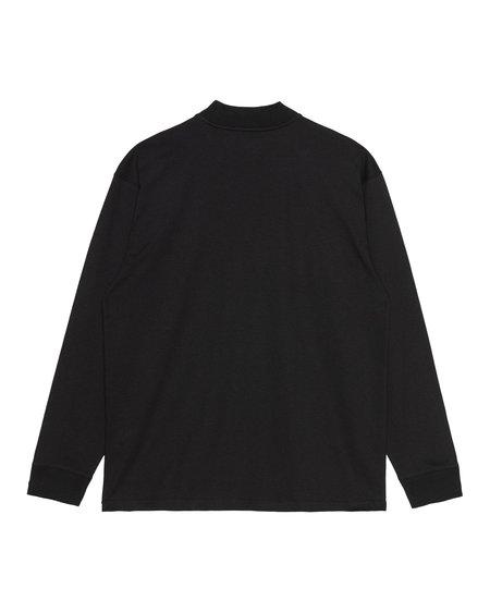 CARHARTT WIP L/S MOCKNECK SCRIPT EMBO T -Shirt -  BLACK