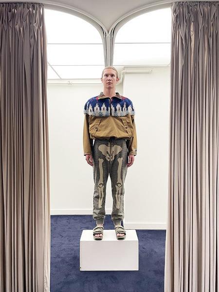 Kapital Chino x Boa Fleece Nordic Anorak jacket - Camel