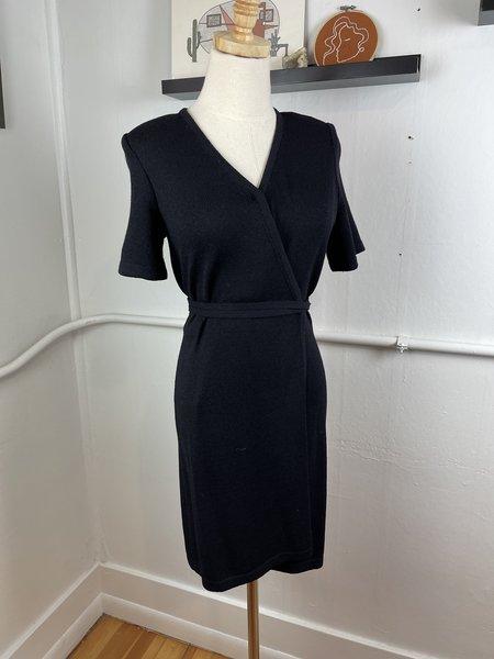 Vintage St. John Black Mini Dress - black