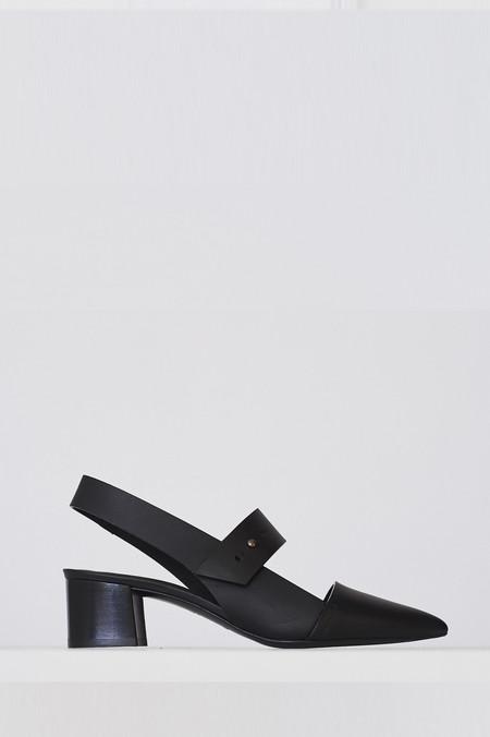Megumi Ochi Leather Agon Heel - Black