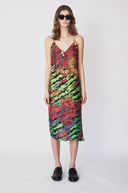 LRS Monster Print Slip Dress