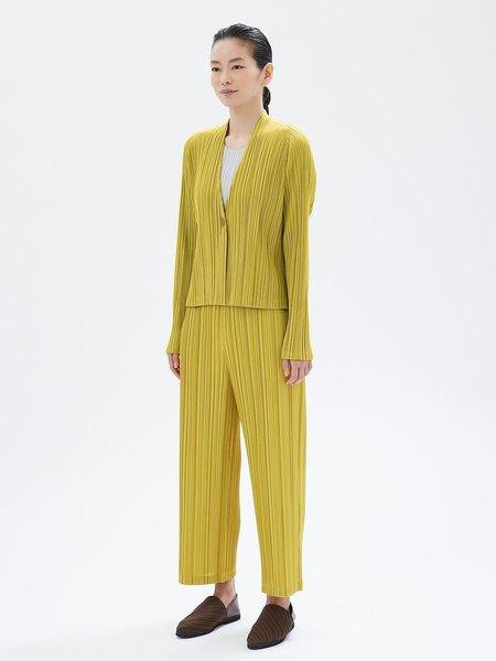 Pleats Please by Issey Miyake Mellow Pleats Jacket - Yellow Ochre