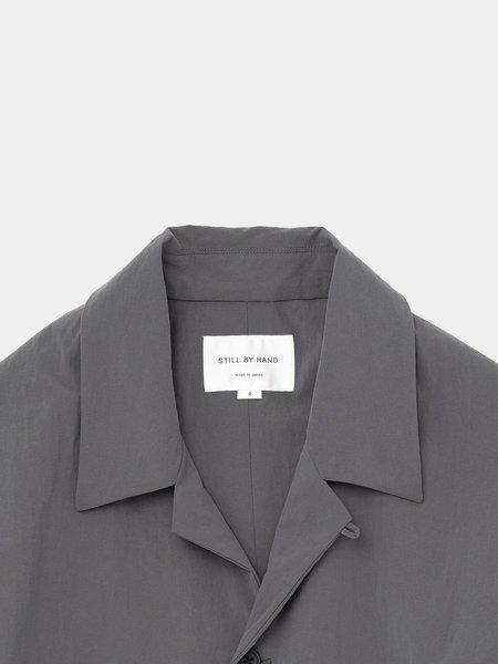 Still By Hand Layered Nylon Jacket - Slate Grey