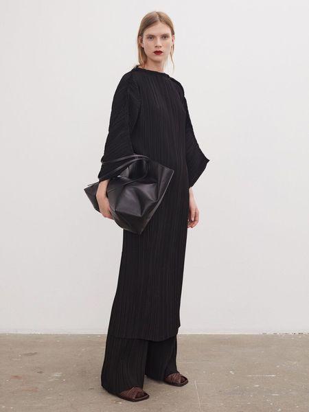 By Malene Birger Tralaido Plissé Dress - black