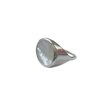 Luiny Madre Perla Ring - Silver