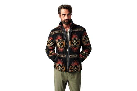 Faherty Brand Good Feather Sherpa Full Zip  Jacket