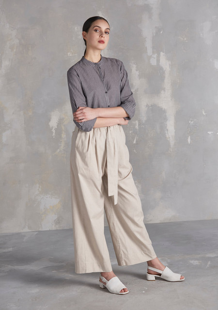 KOWTOW Bay Wide Leg Pant in Oatmeal