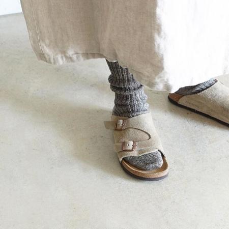 ICHI ANTIQUITES Loiter Mix Linen Socks - Gray