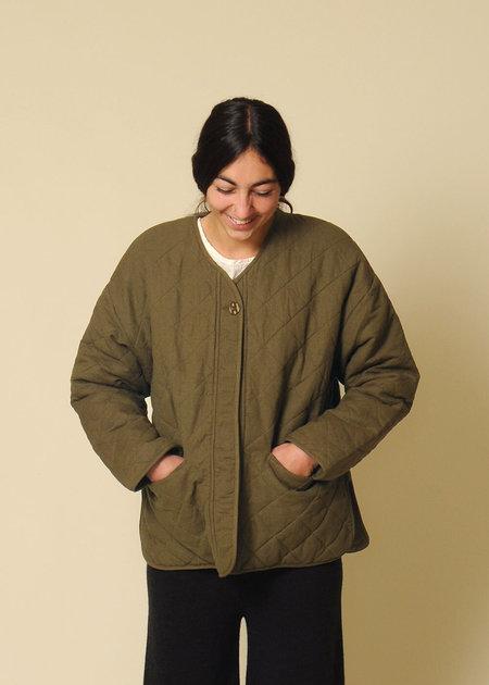 Micaela Greg Cross Quilt Jacket - Fir