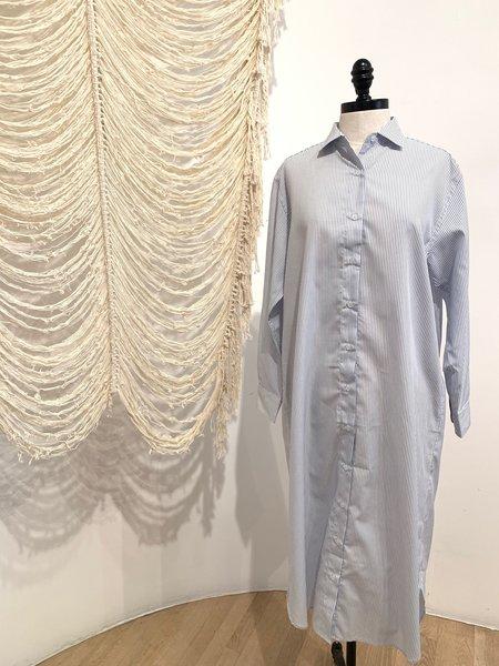 Baserange 100% Organic Cotton Dress - blue