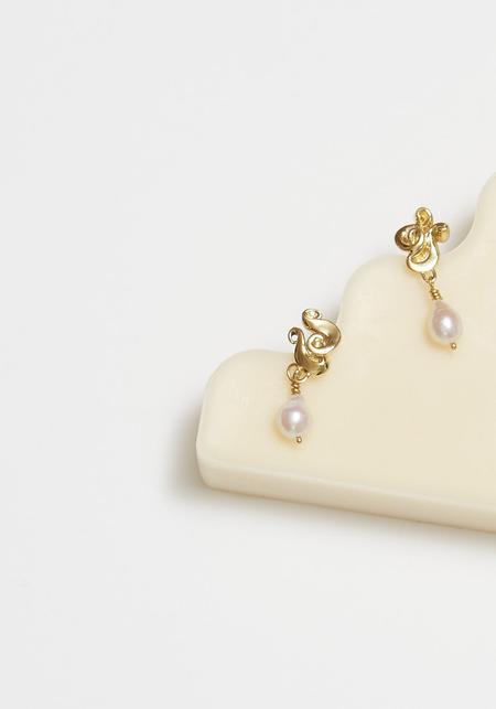 Leigh Miller Pouple Earrings - Brass