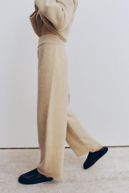Monica Cordera Shearling Pants - Beige