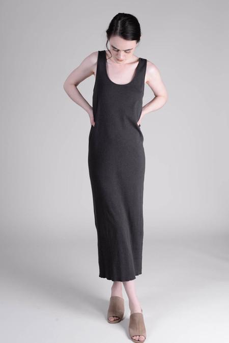 Lauren Manoogian Cashmere Rib Dress Charcoal