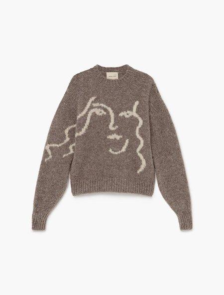 Paloma Wool Anita Face Sweater - Taupe