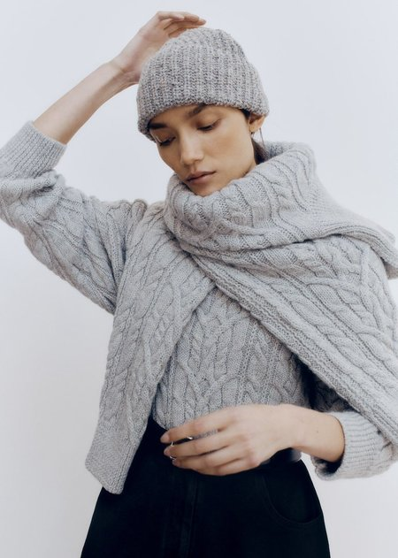 Monica Cordera Soft Wool Beanie - Grey
