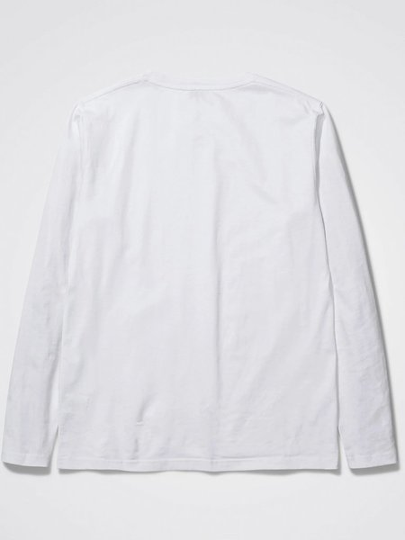 Norse Projects Niels Standard Long Sleeve T-Shirt -  White