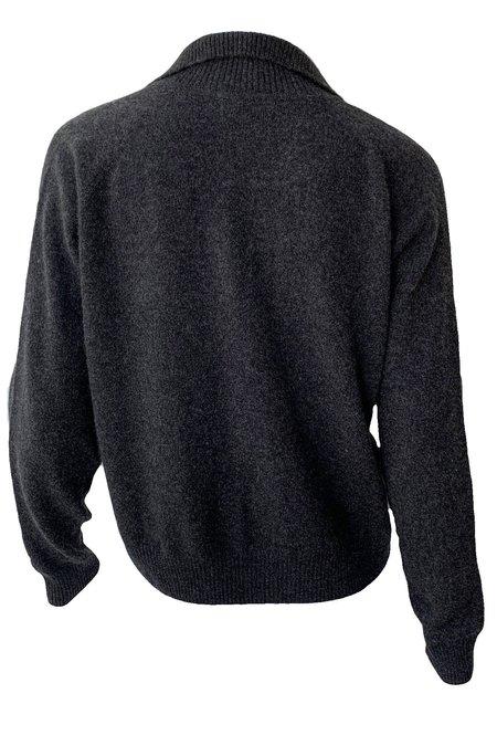 Naadam Cashmere Quarter Zip Sweater - Smoke