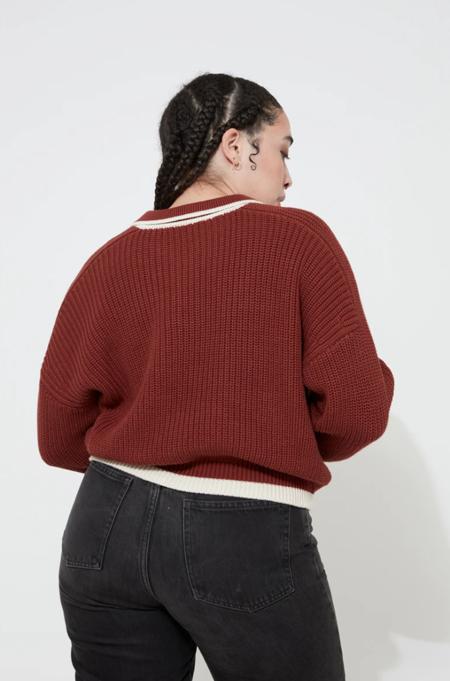 Back Beat Co. Organic Cotton Ellis Sweater -  Chili