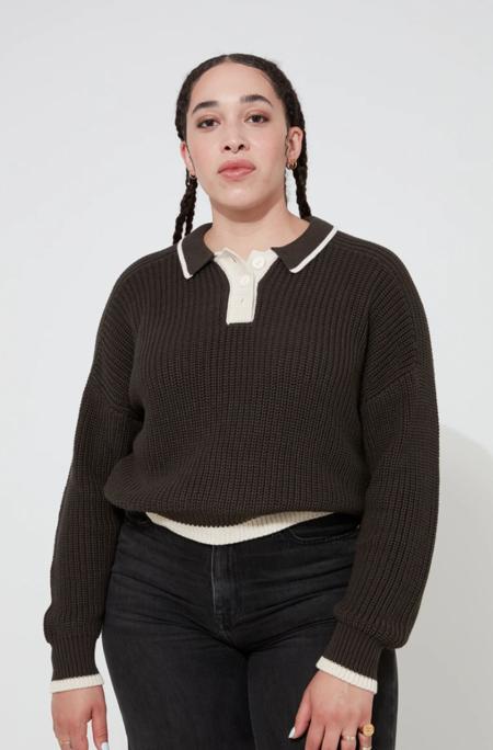Back Beat Co. Organic Cotton Ellis Sweater -  Vintage Black