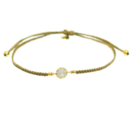 TAI Handwoven Single Bead Bracelet - Olive