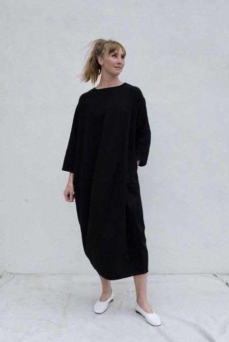 Black Crane Lantern Dress - Black