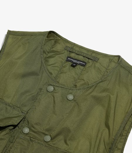 Engineered Garments Cover Vest - Olive Nylon