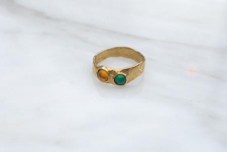 Mondo Mondo Felt Ring - Green/Yellow