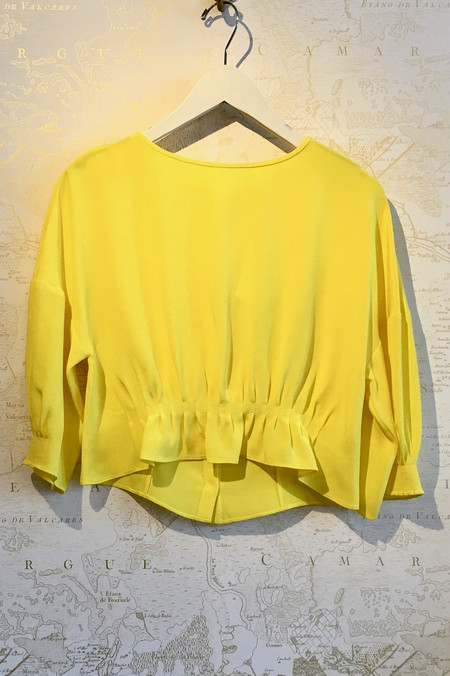 Tibi 4Ply Silk Tucked Blouse