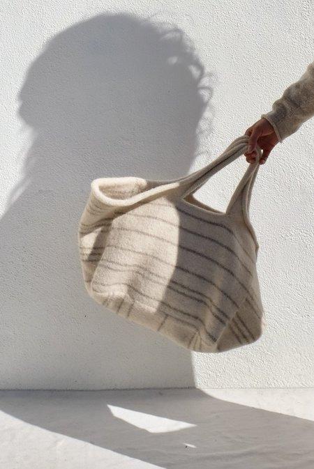 Lauren Manoogian Line Knit Market Bag - Ecru