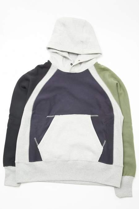 Engineered Garments Workaday Combo Raglan Hoody - Navy