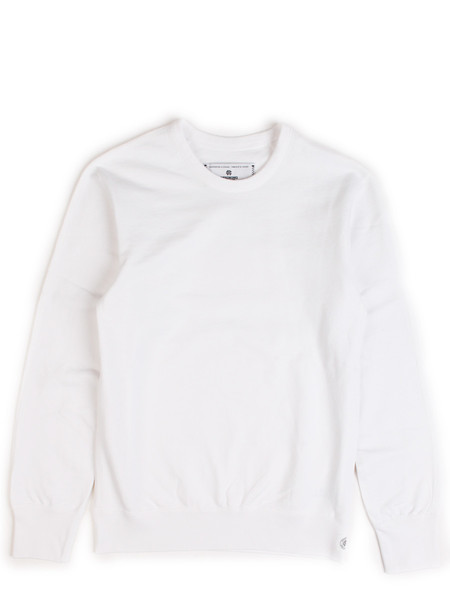 Reigning Champ Light Weight Terry Long Sleeve Crewneck White