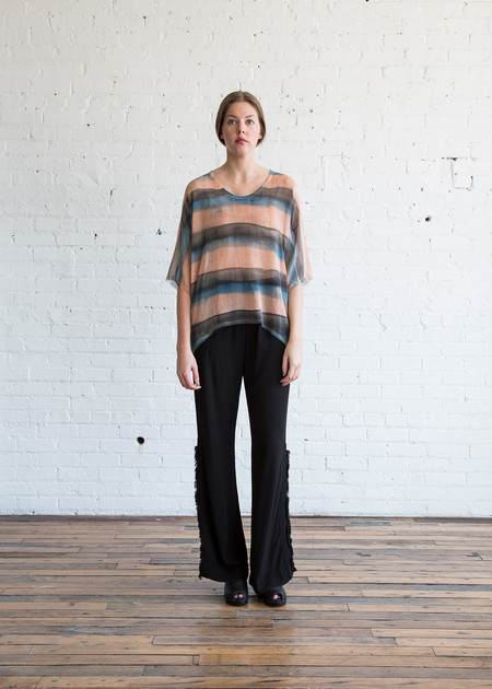 Raquel Allegra Relaxed Tee Black Rose