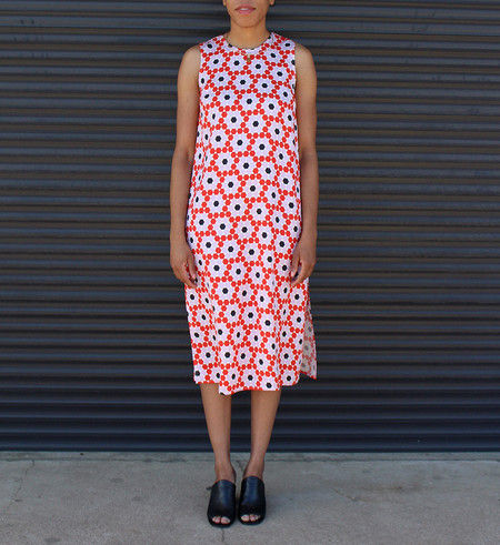 Dusen Dusen Floral Tile Jane Dress