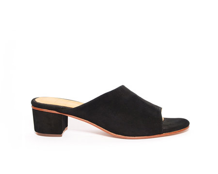 ZOU XOU Sabine Slide in Black Suede