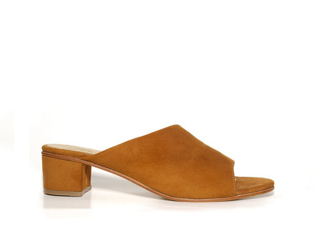 ZOU XOU Sabine Slide in Burnt Sienna Suede
