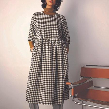 Eve Gravel Aretha Dress - Black/Cream