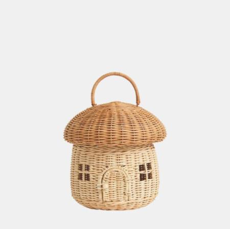 Kids Olli Ella Mushroom Basket