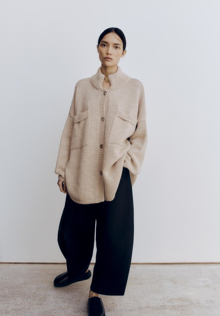 Mónica Cordera Ecowool Polo Jacket - Nude