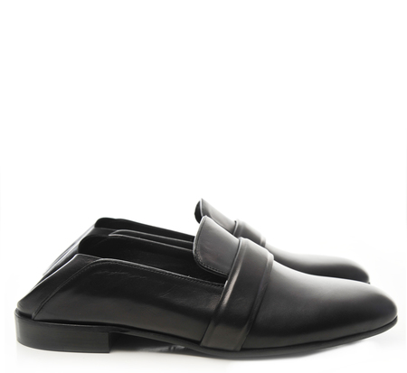 Alumnae Black Garconne Step Down Loafers