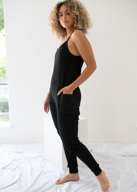 Paper Label Nicola Playsuit - Black